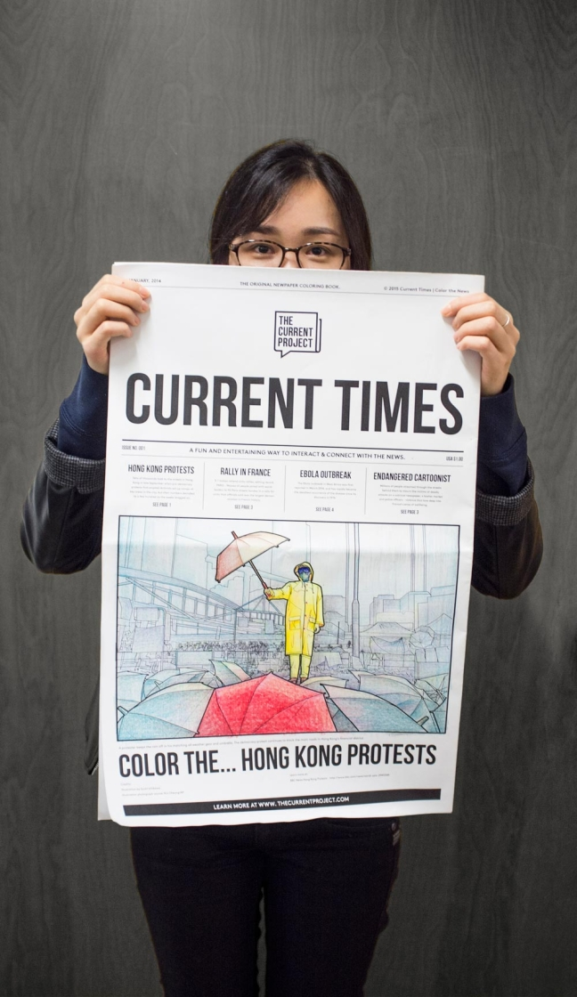 Current Times<br>Coloring Newspaper